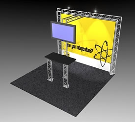 BK-41 10' x 10' Truss Exhibit and Accessory Package