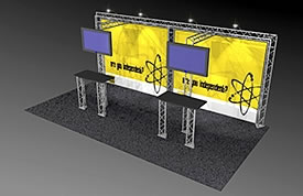 BK-411 10' x 20' Truss Exhibit and Accessory Package