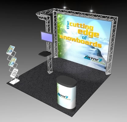 BK-53 10' x 10' Truss Exhibit and Accessory Package