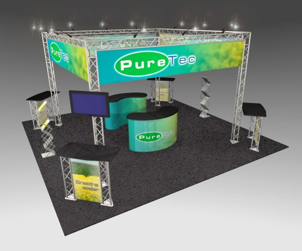 BK-71 20' x 20' Truss Exhibit and Accessory Package