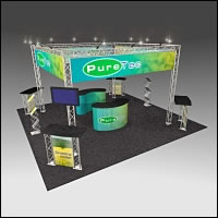 BeautifulDisplays BK-71 20' x 20' Aluminum Truss Display and Accessory Package