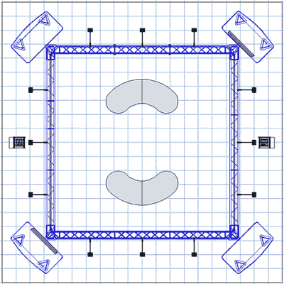 BK-71 20' x 20' Truss Exhibit and Accessory Package Floor Plan