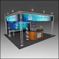 BeautifulDisplays BK-72 20' x 20' Aluminum Truss Display and Accessory Package