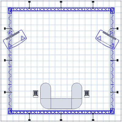 BK-72 20' x 20' Truss Exhibit and Accessory Package Floor Plan
