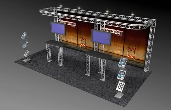 BK-811 10' x 20' Truss Exhibit and Accessory Package