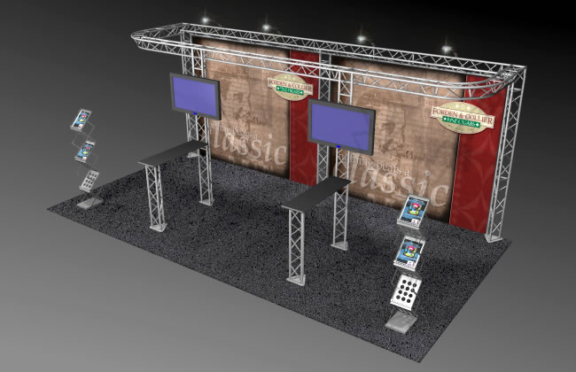 BK-812 10' x 20' Truss Exhibit and Accessory Package