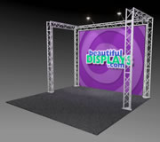 BK1-C 10'x10' Truss Kit with Cases, Graphic & Lights