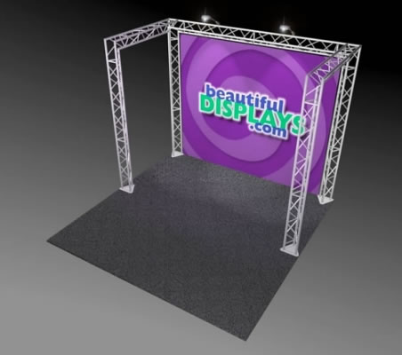 BK1-C 10'x10' Truss Kit  (as shown with cases, graphic & lights)