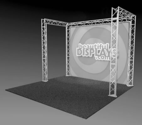BK1-C 10' x 10' Truss Kit  (truss hardware & cases only - fabric graphic not included)