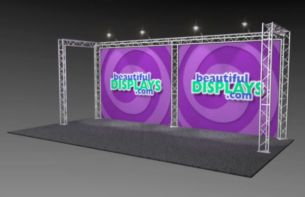 BK1-C 10' x 20' Truss Kit  (as shown with cases, graphics & lights)