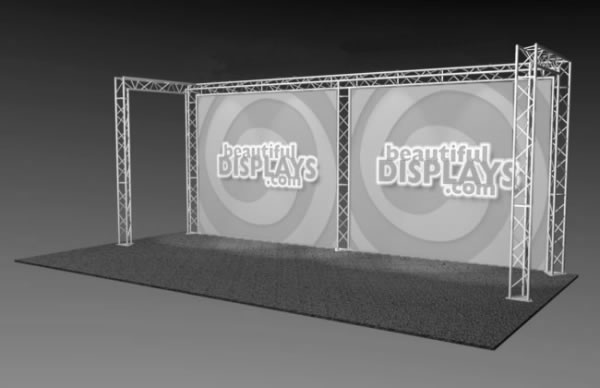 BK1-C 10' x 20' Truss Kit  (truss hardware & cases only - fabric graphics not included)