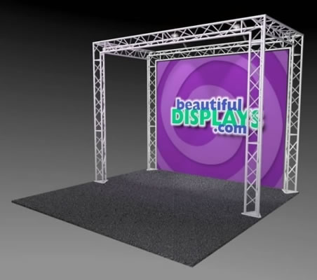 BK10-O 10' x 10' Truss Kit  (as shown with cases, graphic & lights)