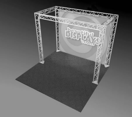 BK10-O 10' x 10' Truss Kit  (truss hardware & cases only - fabric graphic not included)