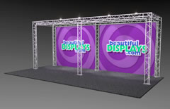 BK10-O 10' x 20' Truss Kit with Cases, Graphic & Lights
