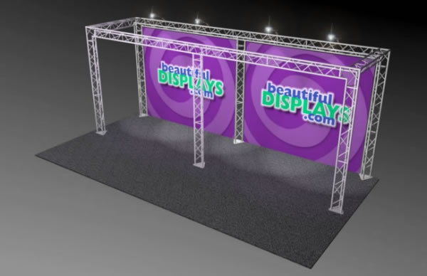 BK10-O 10' x 20' Truss Kit  (as shown with cases, graphics & lights)