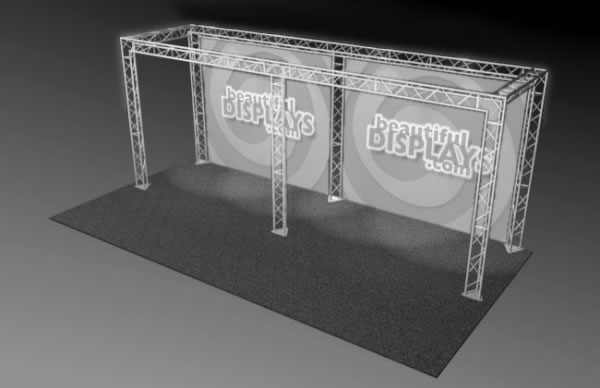 BK10-O 10' x 20' Truss Kit  (truss hardware & cases only - fabric graphics not included)