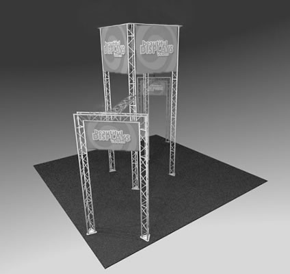 BK1000 Truss Tower Display  (truss hardware & molded shipping crate only - fabric graphics not included)
