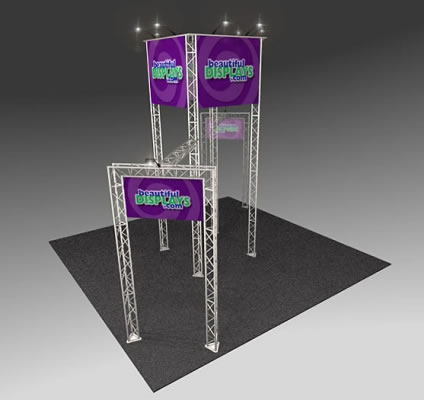 BK1000 Truss Tower Display  (as shown with molded crate, graphics & lights)
