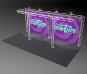 Nimlok® Trilok 10' x 20' Aluminum Truss Display Systems