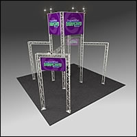 BK1100 Truss Tower Display with Cases, Graphic & Lights