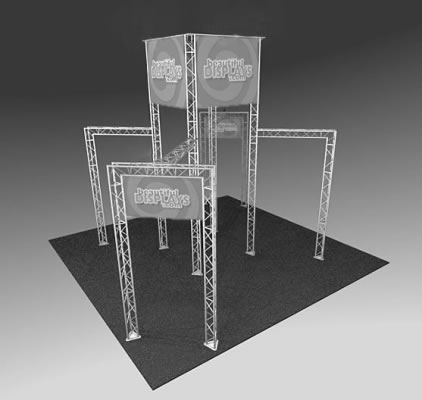 BK1100 Truss Tower Display  (truss hardware & molded shipping crate only - fabric graphics not included)