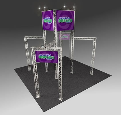 BK1100 Truss Tower Display  (as shown with molded crate, graphics & lights)