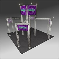 BK1200 Truss Tower Display with Cases, Graphics & Lights