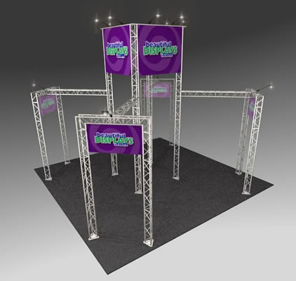 BK1200 Truss Tower Display  (as shown with molded crate, graphics & lights)