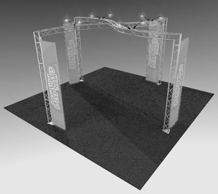 BK13 Truss Display  (truss hardware & molded shipping crate only - fabric graphics & lights not included)