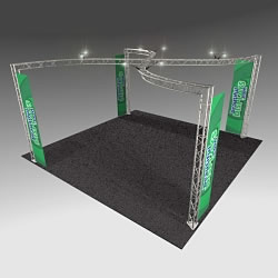 BK13MAX 20' x 20' Truss Kit with Cases, Graphic & Lights