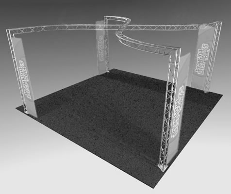 BK13MAX 20' x 20' Truss Display  (truss hardware & molded shipping crate only - fabric graphics not included)