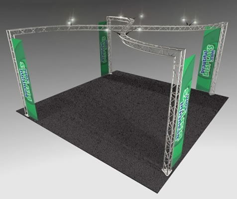 BK13MAX 20' x 20' Truss Kit  (as shown with cases, graphics & lights)