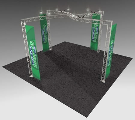 BK13 20' x 20' Truss Kit  (as shown with case, graphics & lights)