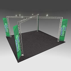 BK14 20' x 20' Truss Kit with Cases, Graphic & Lights