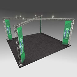 BK14MAX 20' x 20' Truss Kit with Cases, Graphic & Lights