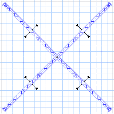 BK14MAX 20' x 20' Truss Display Floor Plan