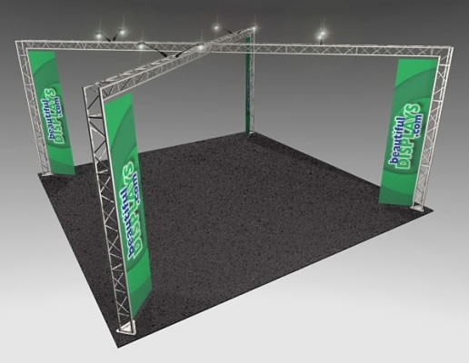 BK14MAX 20' x 20' Truss Kit  (as shown with cases, graphics & lights)