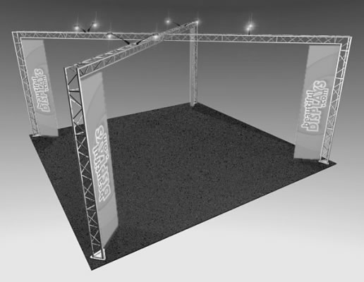 BK14MAX 20' x 20' Truss Display  (truss hardware & cases only - fabric graphics & lights not included)