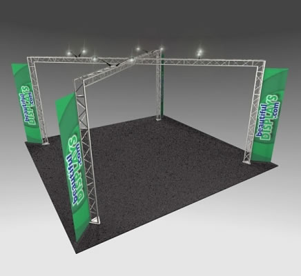 BK14 20' x 20' Truss Kit  (as shown with cases, graphics & lights)
