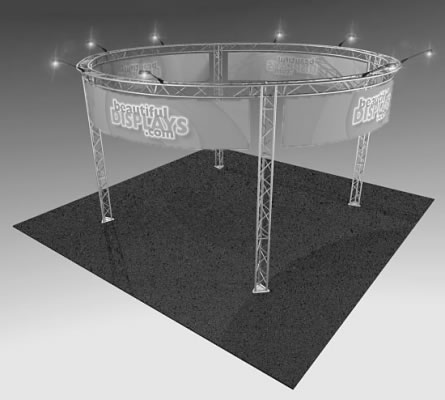 BK15 20' x 20' Truss Display  (truss hardware & molded shipping crate only - fabric graphics & lights not included)