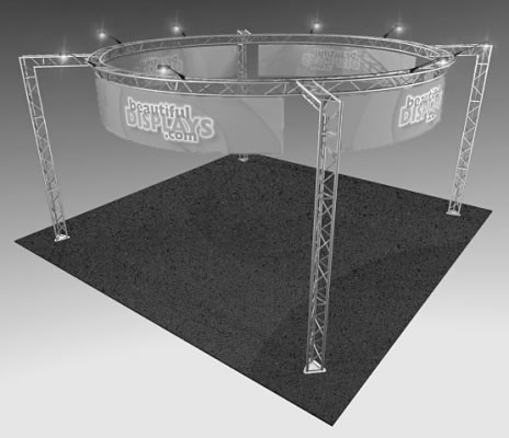 BK15MAX 20' x 20' Truss Display  (truss hardware & molded shipping crate only - fabric graphics & lights not included)
