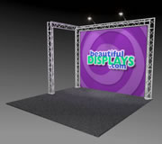 BK2-L 10' x 10' Truss Kit with Case, Graphic & Lights