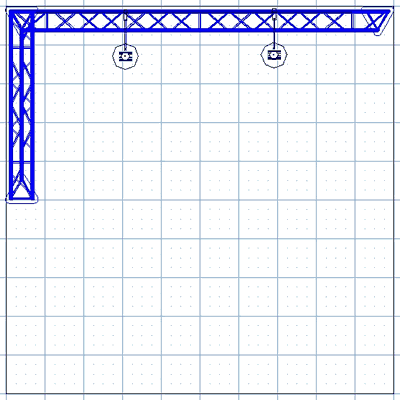 BK2-L 10' x 10' Truss Kit Floor Plan