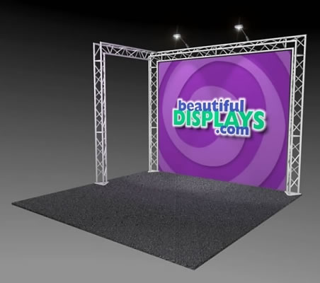 BK2-L 10' x 10' Truss Kit  (as shown with case, graphic & lights)