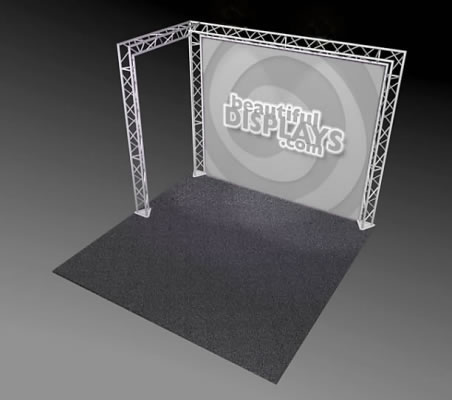 BK2-L 10' x 10' Truss Kit  (truss hardware & case only - fabric graphic not included)