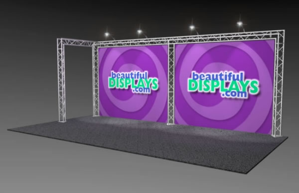 BK2-L 10' x 20' Truss Kit  (as shown with cases, graphics & lights)