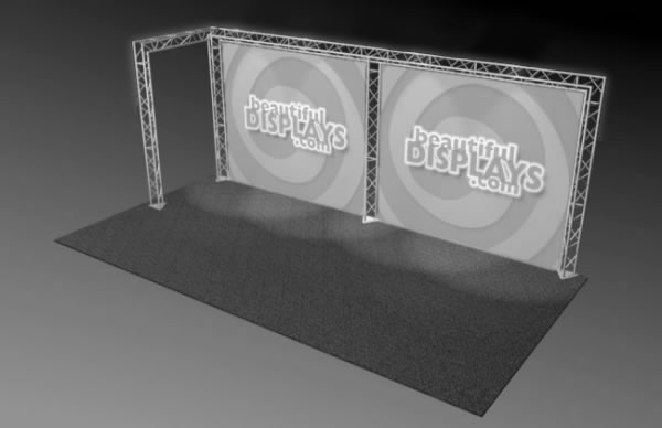 BK2-L 10' x 20' Truss Kit  (truss hardware & cases only - fabric graphics not included)