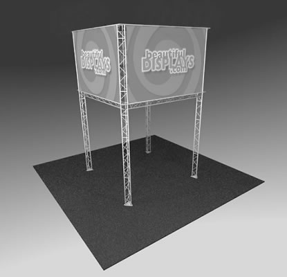BK2000 Truss Tower Display  (truss hardware & molded shipping crate only - fabric graphics not included)