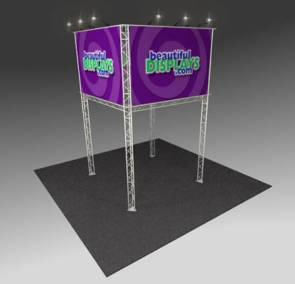 BK2000 Truss Tower Display  (as shown with molded crate, graphics & lights)