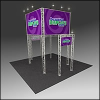 BK2100 Truss Tower Display with Case, Graphics & Lights